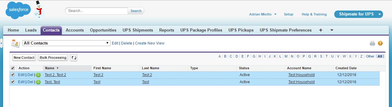Bulk Shipping From a List View in Salesforce - Zenkraft Docs