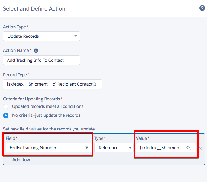 Using Process Builder to Add FedEx Tracking Number to your