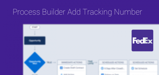 process builder add tracking number